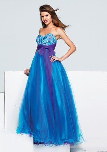 Blue purple bridesmaid dresses